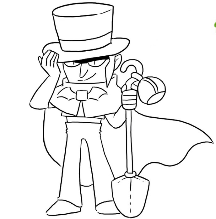 top hat mortis con sombrero para colorear brawl stars coloring
