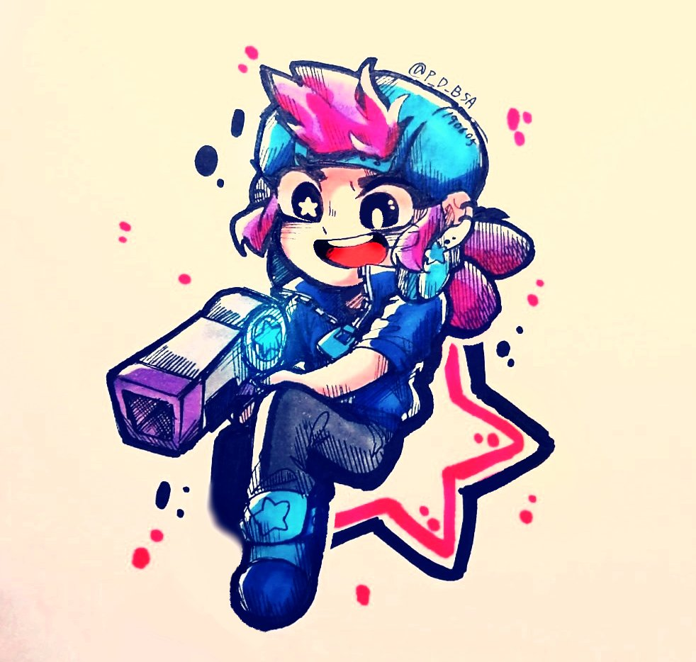 star shelly estrella fanart brawl stars