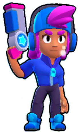 star shelly estrella brawl stars skin png