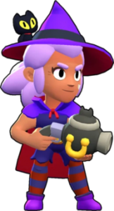witch shelly bruja png brawl stars skin