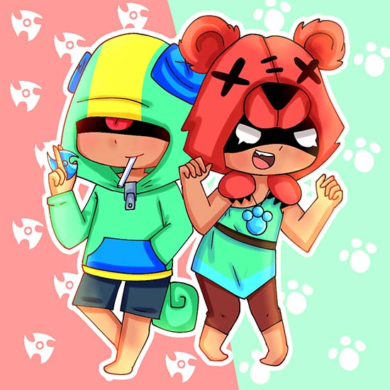 nita y leon fan art brawl stars