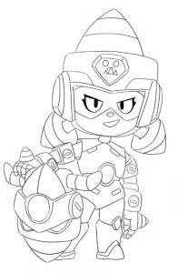coloring ultra driller jacky para colorear skin aspecto brawl