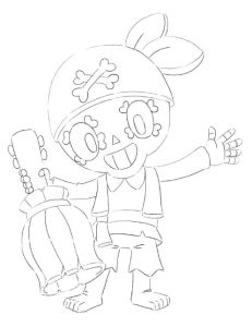 coloring pirate poco pirata para colorear