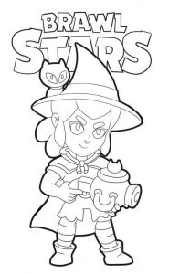 coloring witch shelly bruja para colorear
