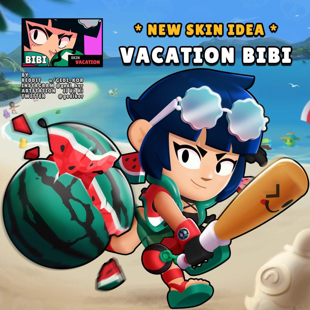 Bibi Brawl Stars Skin Idea Gedi Kor
