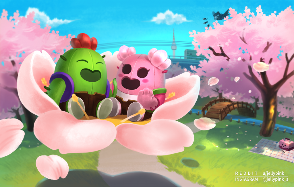 spike normal y sakura brawl stars