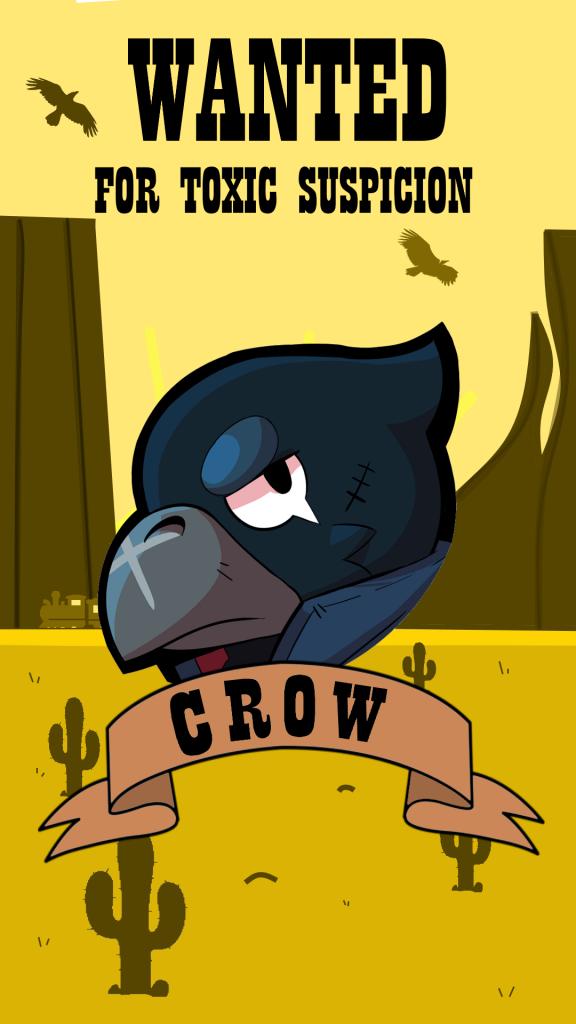 crow wallpaper brawl stars Android HD 4k