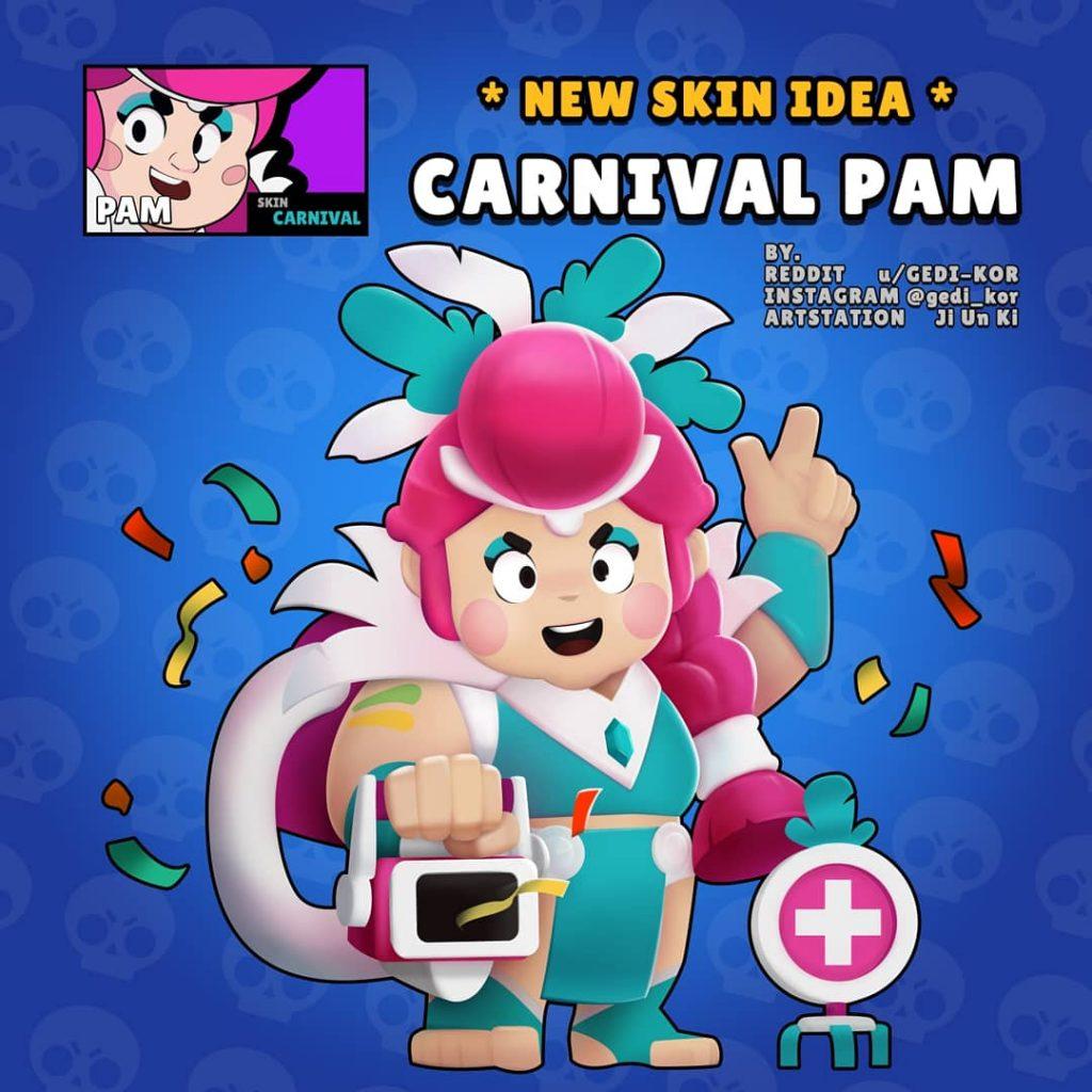 carnival pam carnaval skin idea brawl stars gedi kor