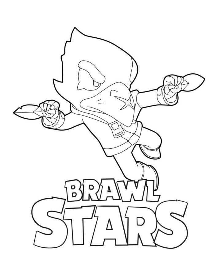 crow brawl stars para colorear