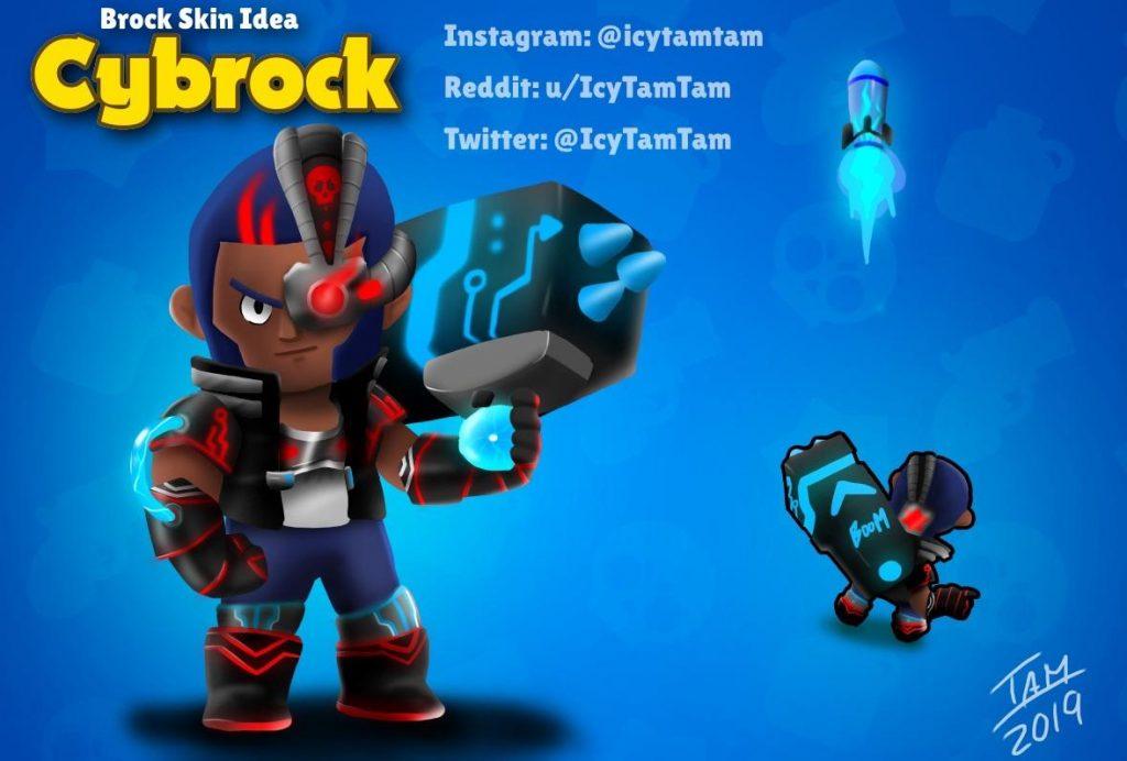brock brawl stars skin idea cybrock