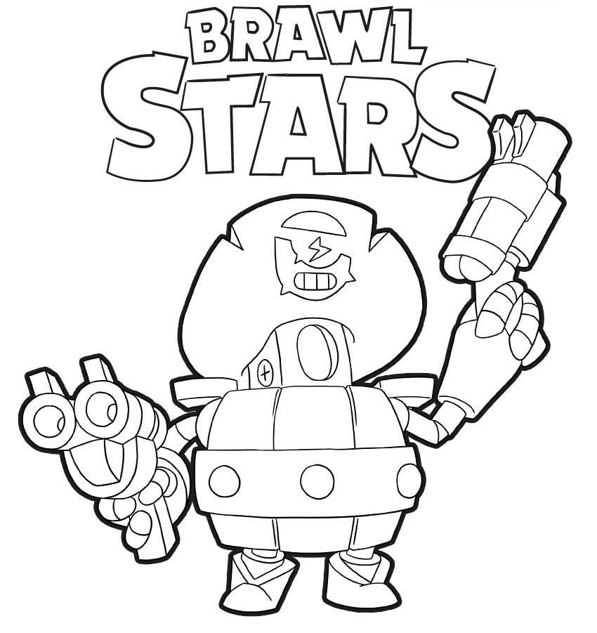 darryl para colorear pintar coloring brawl stars