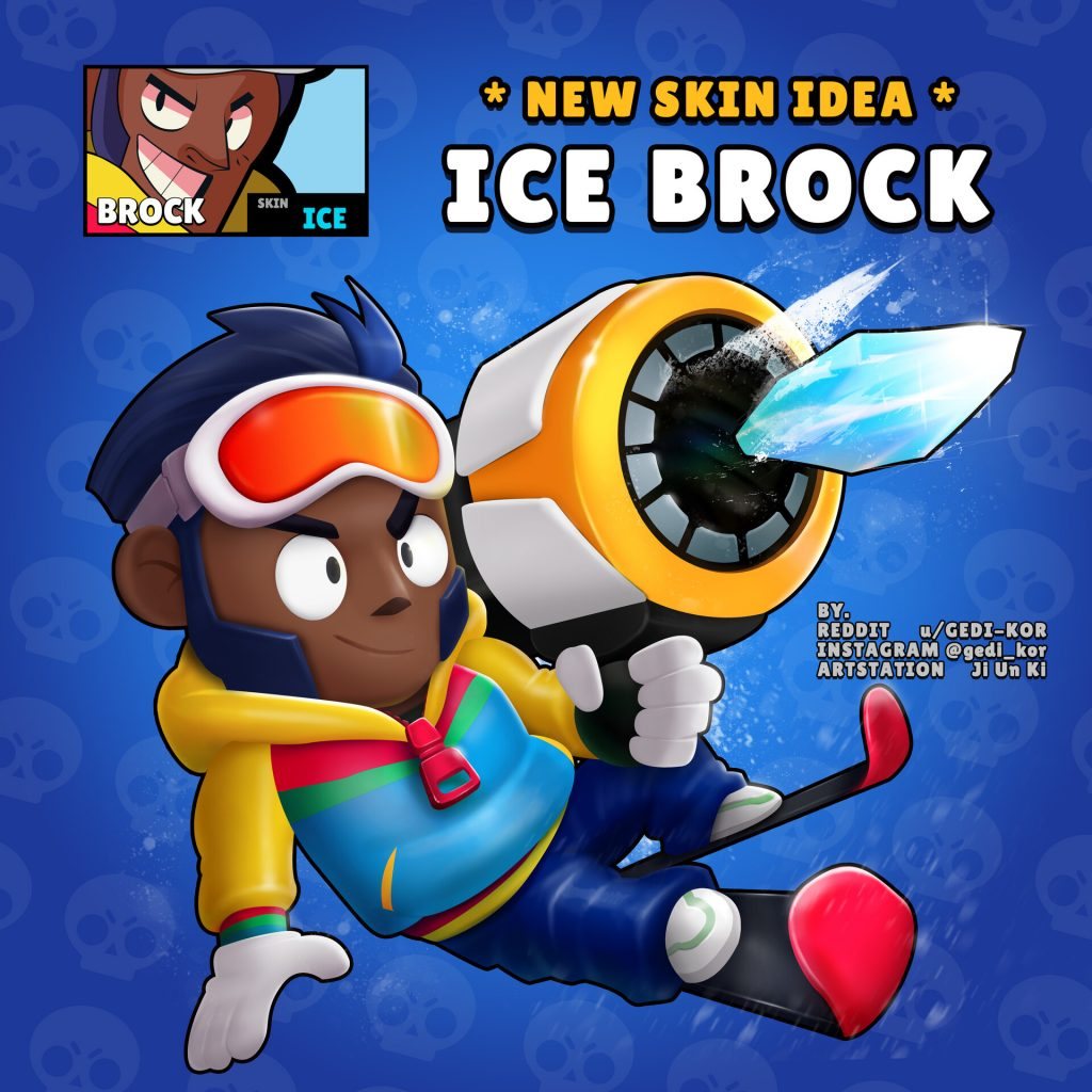brock brawl stars skin idea gedi kor ice