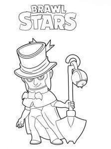 top hat mortis con sombrero para colorear brawl stars coloring