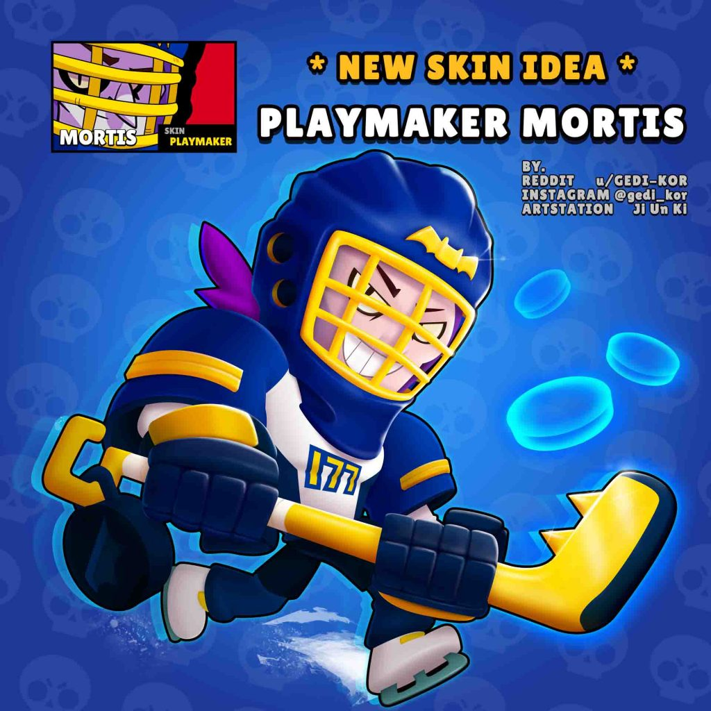 playmaker mortis skin idea brawl stars gedi kor