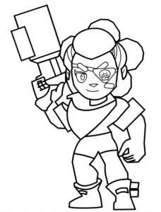 bandita shelly bandida para colorear coloring