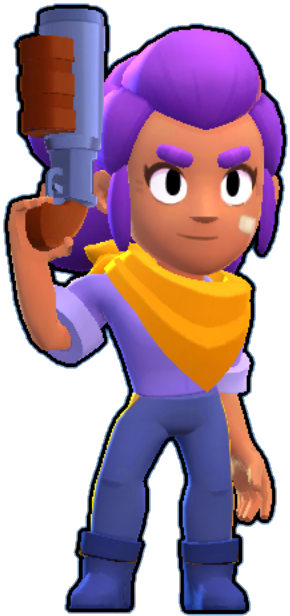 shelly brawl stars png skin default main