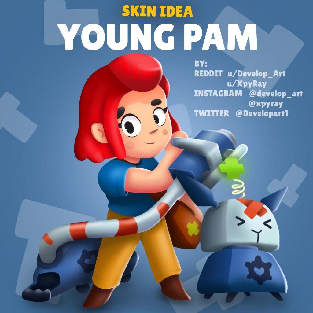 young pam joven skin idea brawl stars
