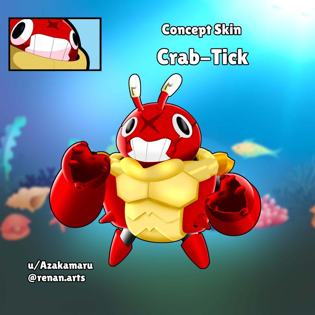 crab tick skin idea fanart