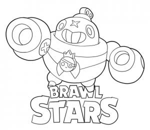 coloring tick para colorear brawl stars