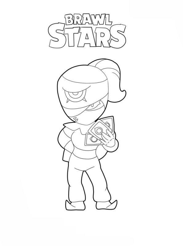 tara para colorear brawl stars pintar coloring