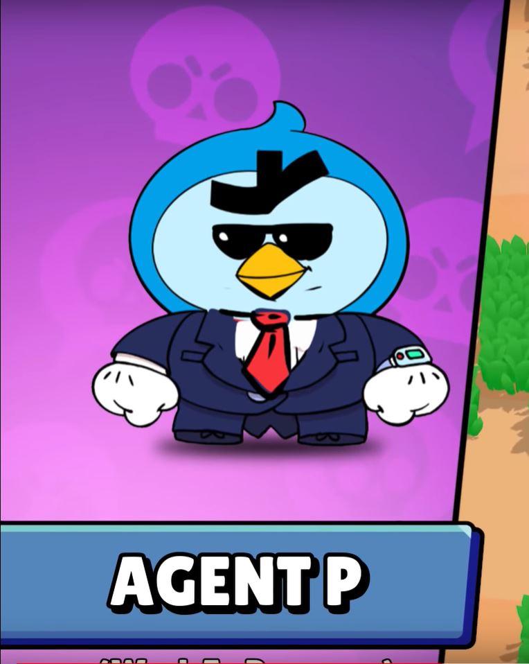 agent p skin brawl stars aspecto agente