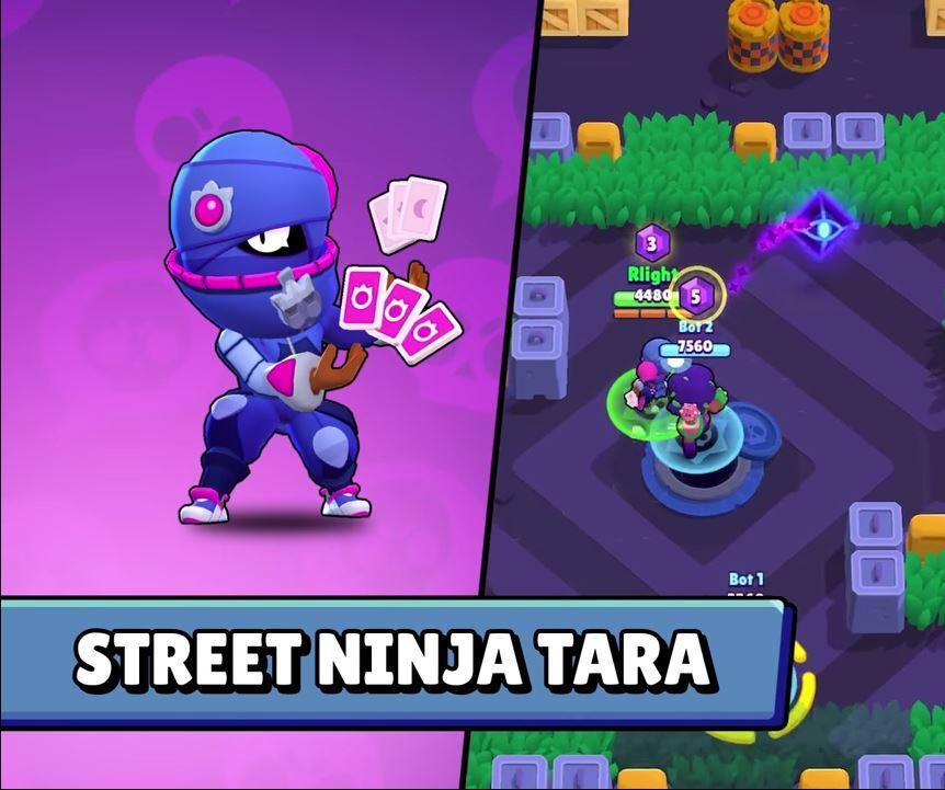 street ninja tara skin brawl stars aspecto