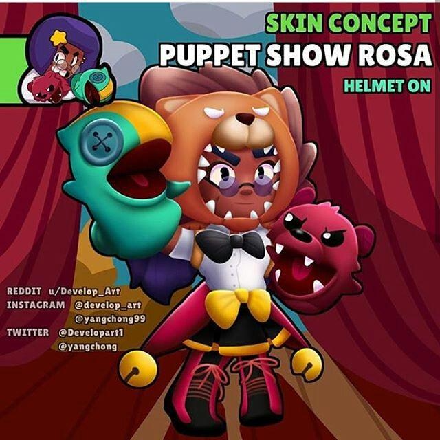 rosa brawl stars skin idea puppet
