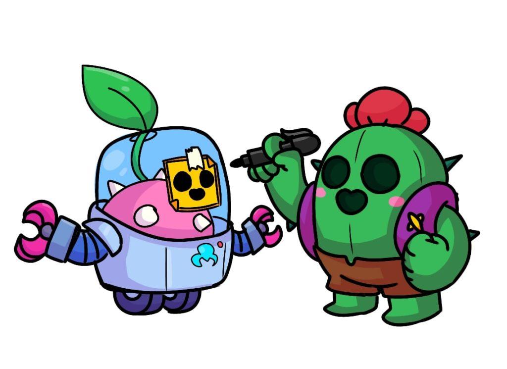 sprout spike brawl stars fanart