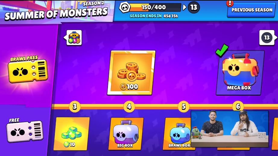 brawl pass 2 summer of monsters