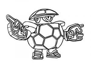 coloring mascot darryl hincha pelota balon para colorear