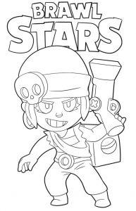 coloring penny para colorear brawl stars